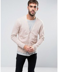 Cotton cardigan with pockets in dusty pink medium 3642105