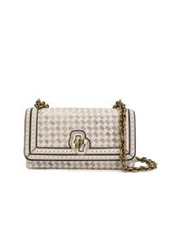 Bottega Veneta Mist Intreccito Checker Olimpia Knot Bag