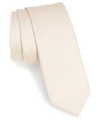 Beige Check Tie