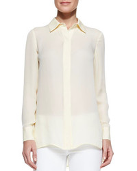 Vince Georgette Button Down Blouse Buttercup