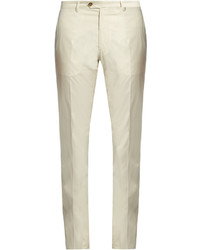 Etro Straight Leg Cotton Blend Chino Trousers