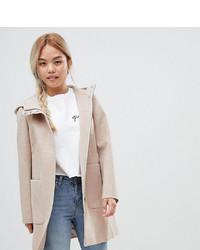 Asos Petite Asos Design Petite Zip Through Coat With Hood