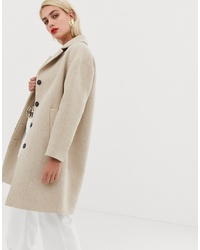Mango Button Front Mid Length Coat
