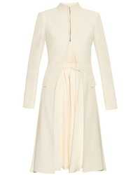 Alexander McQueen Stand Collar Leaf Crepe Tailored Jacket