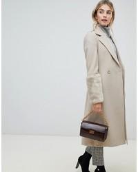 Fashion Union Wrap Coat With Faux S