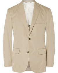 Freemans Sporting Club Beige Slim Fit Cotton Blazer