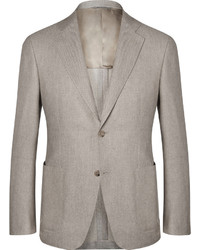 Canali Kei Unstructured Wool And Cotton Blend Blazer