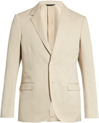Calvin Klein Collection Single Breasted Cotton And Linen Blend Blazer
