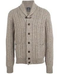 Beige Cowl-neck Sweater