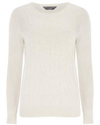Beige Crew-neck Sweater