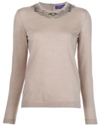 Ralph Lauren Collection Embellished Crew Neck Sweater