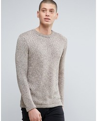 Minimum Crew Neck Two Tone Knit Sweater