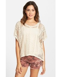 Coco Jameson Crochet Poncho Top