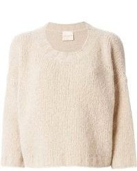 Beige Cropped Sweater
