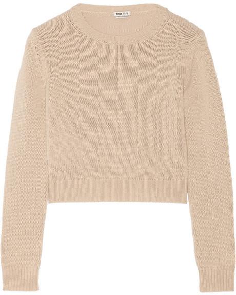 Miu Miu Cropped Cashmere Sweater | Where to buy & how to wear