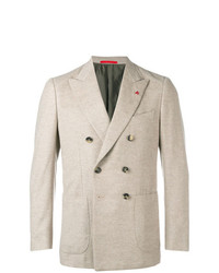 Isaia Classic Double Breasted Blazer