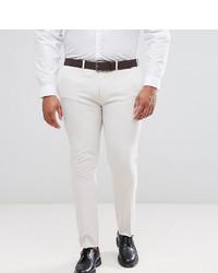 ASOS DESIGN Asos Plus Super Skinny Smart Trousers In Cream