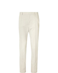 Hugo Boss Cream Paco Cropped Slim Fit Twill Trousers