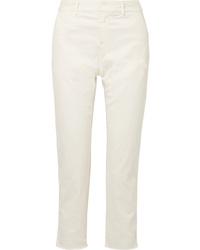 Nili Lotan Montauk Cropped Stretch Cotton Twill Slim Leg Pants