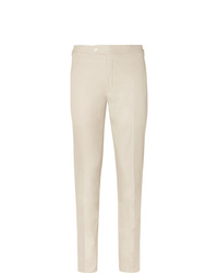 Thom Sweeney Slim Fit Cotton Gabardine Trousers