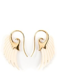 Noor Fares 18kt Yellow Gold Wing Earrings
