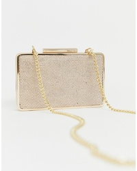 Miss KG Structured Clutch Bag With Hardware