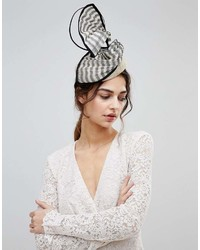 Vixen Beret Shape Hat With Stiriped Abaca Trim