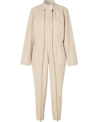 Stella McCartney Zip Embellished Twill Jumpsuit