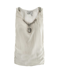 Lanvin Embellished Washed Silk Top