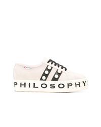 Superga Pearl Embellished Sneakers