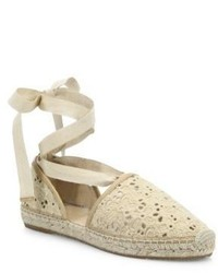 Jimmy Choo Dolphin Lace Up Espadrille Flats