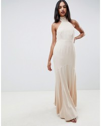 ASOS DESIGN High Neck Maxi Dress In Crepe