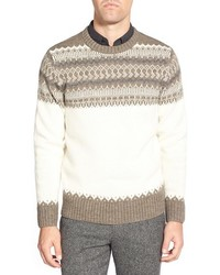 Fair isle crewneck sweater medium 370483