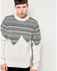 Mountain skyline fair isle knitted sweater medium 370479