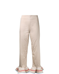 Anna October Flared Trim Cropped Trousers