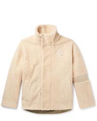Acne Studios Oversized Logo Detailed Fleece Jacket