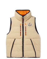 Moncler Genius 2 Moncler 1952 Auron Reversible Fleece And Quilted Shell Down Gilet