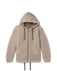 Aspesi Wool Blend Fleece Zip Up Hoodie