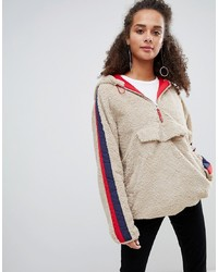 Bershka Faux Pull On Coat