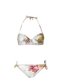 Zimmermann Hibiscus Floral Print Bikini