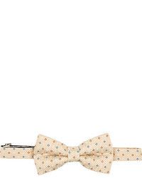 Beige Floral Bow-tie