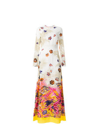 MSGM Long Length Floral Print Dress