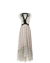 Philosophy di Lorenzo Serafini Embroidered Floral Flared Dress