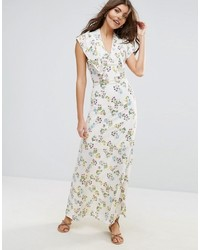 Liquorish Micro Floral Lined Maxi Dress
