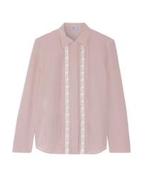 Prada Med Silk De Chine Shirt