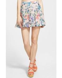 Pleated floral miniskirt medium 181716