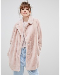 New Look Coat In Faux Fur