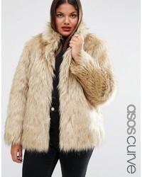Asos Curve Curve Jacket In Vintage Faux Fur