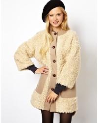 Asos Longline Teddy Faux Fur Coat