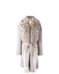 Guy Laroche Fox Fur Collar Coat